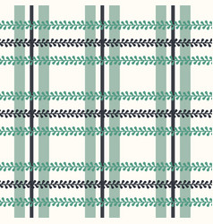 Folklore plaid with periwinkle on bright vector