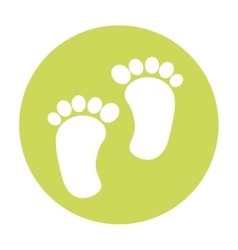 Footprint baby isolated icon vector