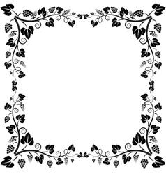 frame vine vector image