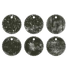 grunge badges vector image