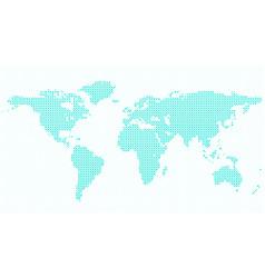 Halftone world map background - graphic design vector