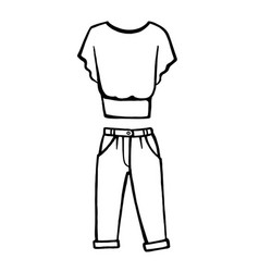 Hand drawn fashion icon vector