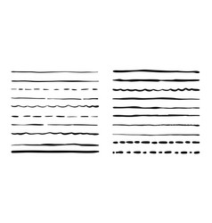 Hand drawn grunge brushes set artistic pen vector