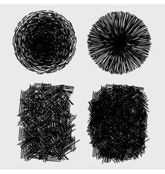 Hand drawn sketches rough hatching grunge texture vector