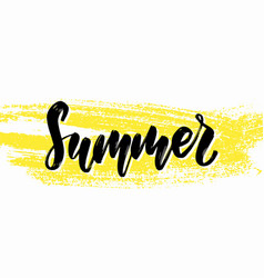 hand drawn summer lettering tropical traveling vector image
