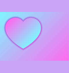heart love symbol for valentines day from pastel vector image