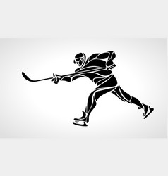 hockey player abstract silhouette vector image