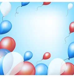 Holiday backgrounds with tricolor balloons vector