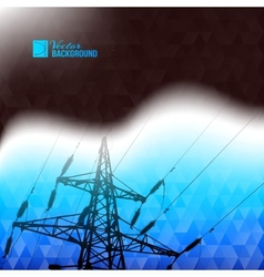 Industrial pylon abstraction vector image