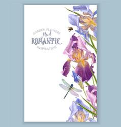 Iris vertical border vector