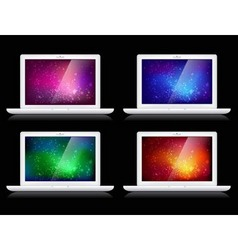 laptops and backgrounds vector image