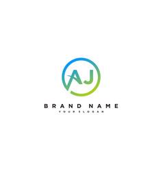 Letter aj logo design vector