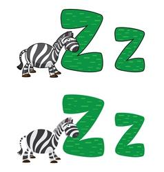 letter Z zebra vector image