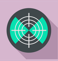 maritime radar aim icon flat style vector image