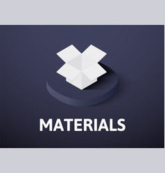 materials isometric icon isolated on color vector image