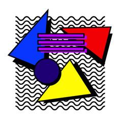 memphis set 80s vector image