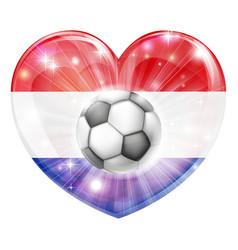 netherlands soccer heart flag vector image