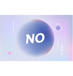 No on in design banner template for web vector
