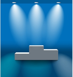 Pedestal in the blue room vector image