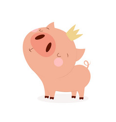 Pig with crown vector