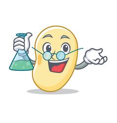 Professor soy bean character cartoon vector