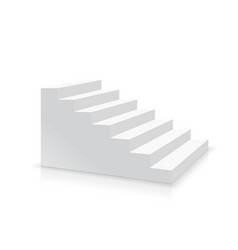 Realistic white stair side view vector