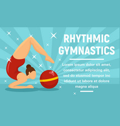 rhythmic gymnastics sport concept banner flat vector image