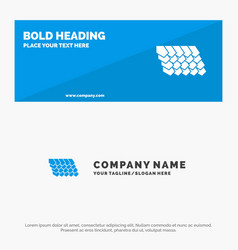 Rotile top construction solid icon website vector