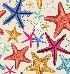 Seamless pattern starfish vector