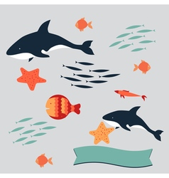 set killer sea vector image
