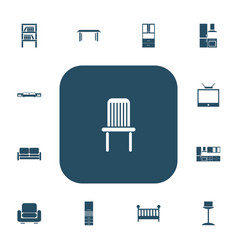 Set of 13 editable furnishings icons includes vector