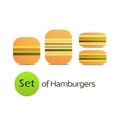 Set of Hamburgers vector image