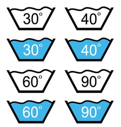 Set of washing sign vector