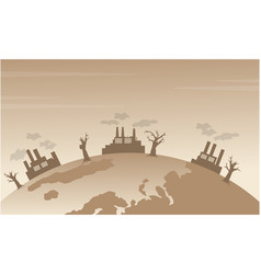 silhouette of bad environment from world vector image