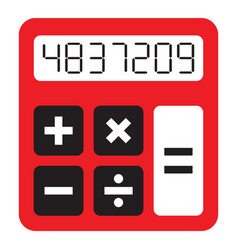 simple calculator vector image