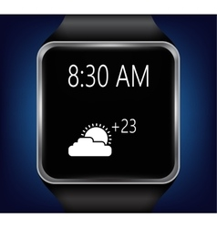 Smart clock that shows the weather vector