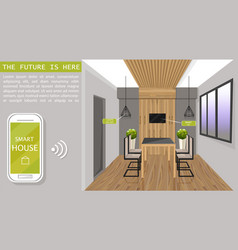 smart design interior flat style mobile vector image