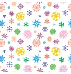 snowflakes color vector image
