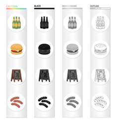 Tavern food recreation and other web icon vector