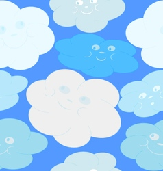 Texture of clouds vector image