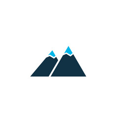 the mountains icon colored symbol premium quality vector image