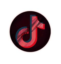 Tiktok logo vector