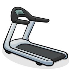 Treadmill running machine vector