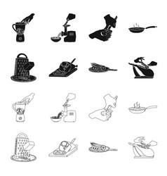 Treat appliance tool and other web icon in black vector