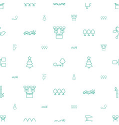 Tree icons pattern seamless white background vector