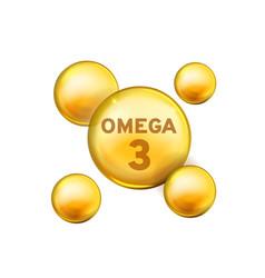 Vitamin drop omega 3 fish oil capsule vector