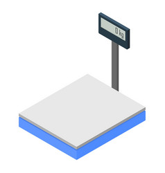 Warehouse scales icon isometric style vector