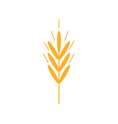 Wheat ears icons organic wheat bread agriculture vector