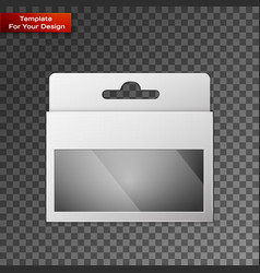 White product package box vector