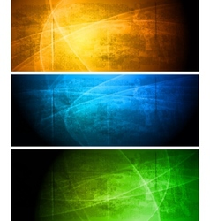 bright textural grunge banners collection vector image vector image